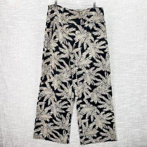 J. Jill Wearever Wide Leg Pants Medium Palm